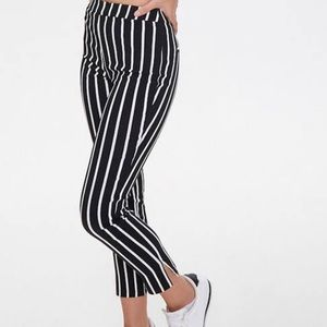 Forever 21 stripped ankle pants